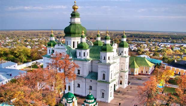 The Eletsky Monastery is one of the oldest temples in Ukraine and is the biggest one in Chernihiv, a historic city in Northern Ukraine. (Sources: globaltourismplaces.blogspot.com and discover-ukraine.info)