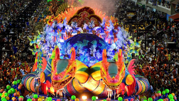 The Carnaval in Rio de Janeiro is a world famous festival held before Lent every year and considered the biggest carnaval in the world with two million people per day on the streets. The first festivals of Rio date back to 1723.-Wikipedia
