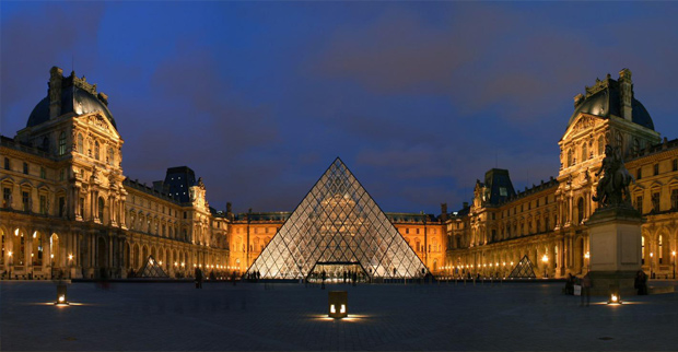 The Musée du Louvre (1793)--in English, the Louvre Museum or simply The Louvre—is one of the world's largest museums, and a historic monument. A central landmark of Paris, France, it is located on the Right Bank of the Seine in the 1st arrondissement (district). With more than 8 million visitors each year, the Louvre is the world's most visited museum.-wikipedia