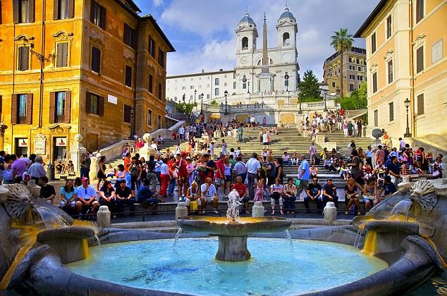 Italy, Latium, Roma district, Rome, Spanish Steps, Trinità dei Monti, Travel Destination, Barcaccia fountain